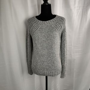 Ann Taylor Wool Blend Gray Knit Sweater Medium